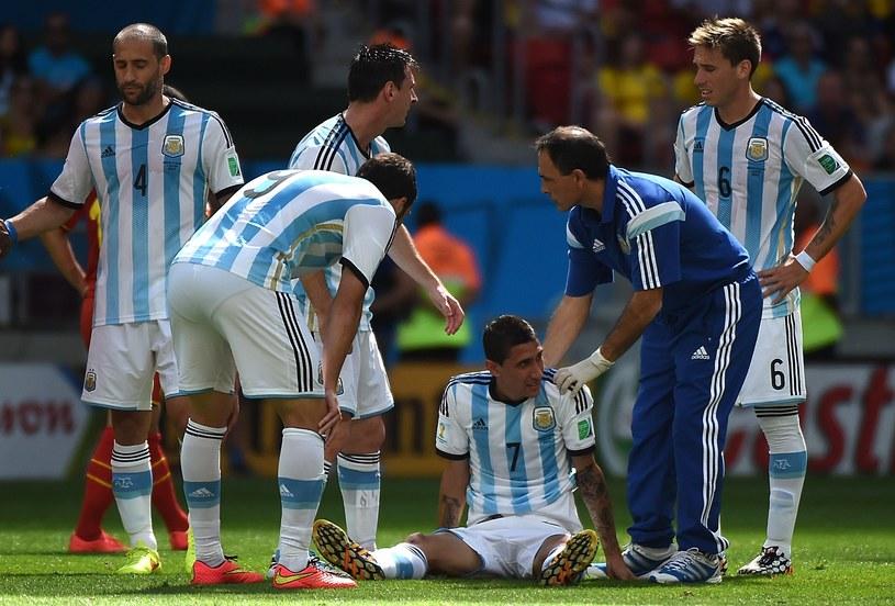 Pomocnik Argentyny Angel Di Maria doznał kontuzji uda /AFP