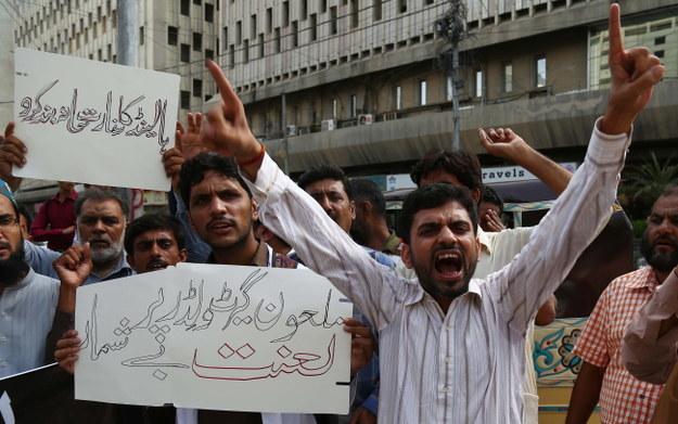 Pomysł Wildersa wywołał falę protestów w Pakistanie / SHAHZAIB AKBER    /PAP/EPA