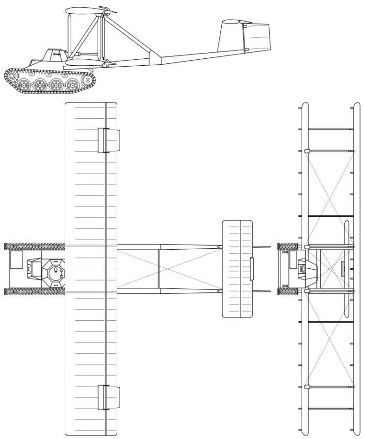 Pomysł zakładał połączenie czołgu oraz szybowca /Wikipedia