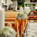 Pomysły na dekoracje kościoła i sali weselnej