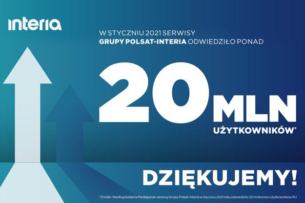 Ponad 20 mln RU w styczniu 2021! Ponad 20 mln RU w styczniu 2021! /Interia.pl /INTERIA.PL