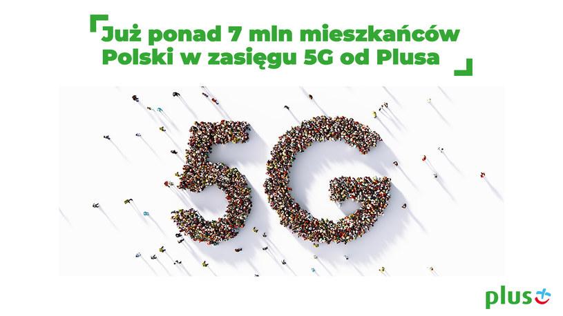 Ponad siedem mln Polaków jest w zasięgu 5G w Plusie /Polsat News
