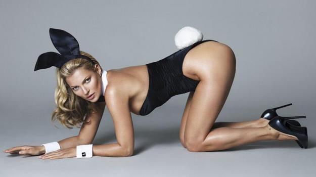Ponętny biust, kształtna pupa, zgrabne nogi - Kate Moss prezentuje wszystkie swoje atuty /materiały prasowe