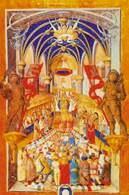 Pontyfikał Erazma Ciołka, Intronizacja króla, ok. 1510 /Encyklopedia Internautica