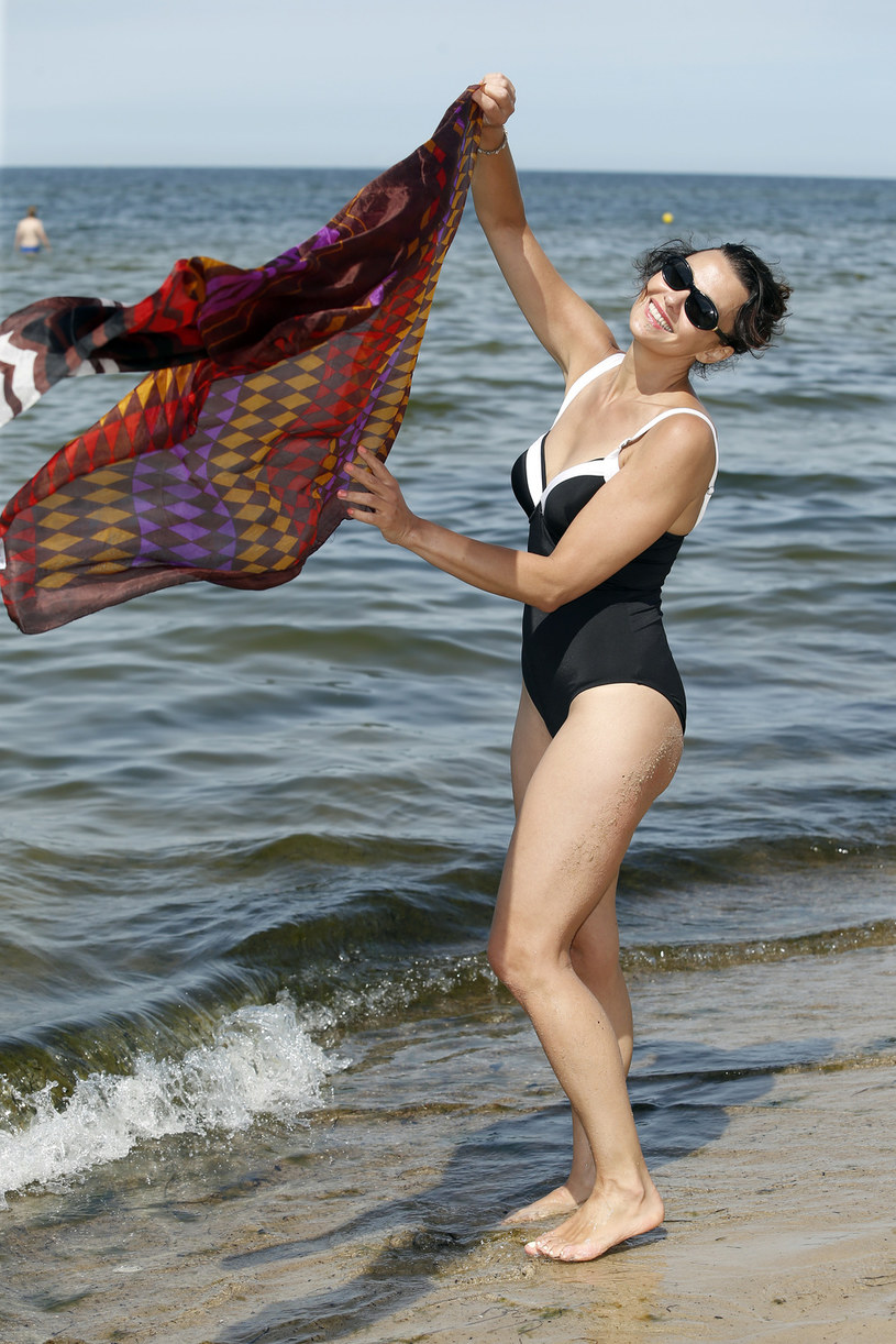 Popek na plaży /Podlewski /AKPA