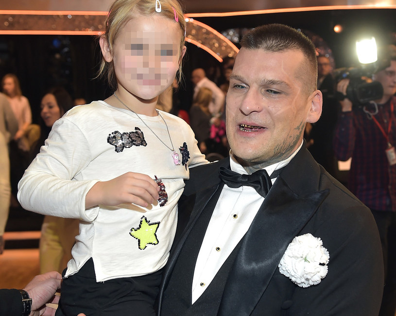 Popek z córką Julką /AKPA