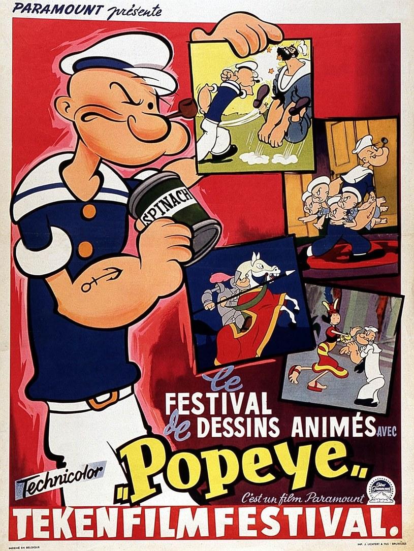 Popeye siłę zyskiwał po zjedzeniu puszki szpinaku /East News