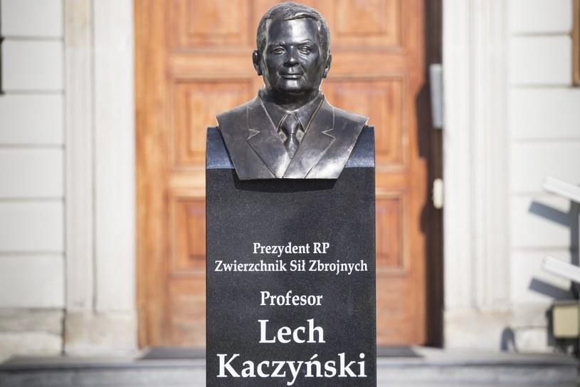 Popiersie Lecha Kaczyńskiego /Maciej Luczniewski /East News