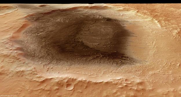 Popiół wulkaniczny w rejonie Meridiani Planum  /ESA/DLR/FU Berlin (G. Neukum)