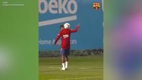 Popis techniki Ansu Fatiego. Ale przyjęcie piłkarza Barcelony! Wideo