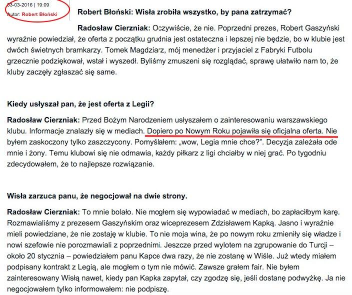 """Poprawiona wersja wywiadu z """"Przeglądu Sportowego"""" /INTERIA.PL"""