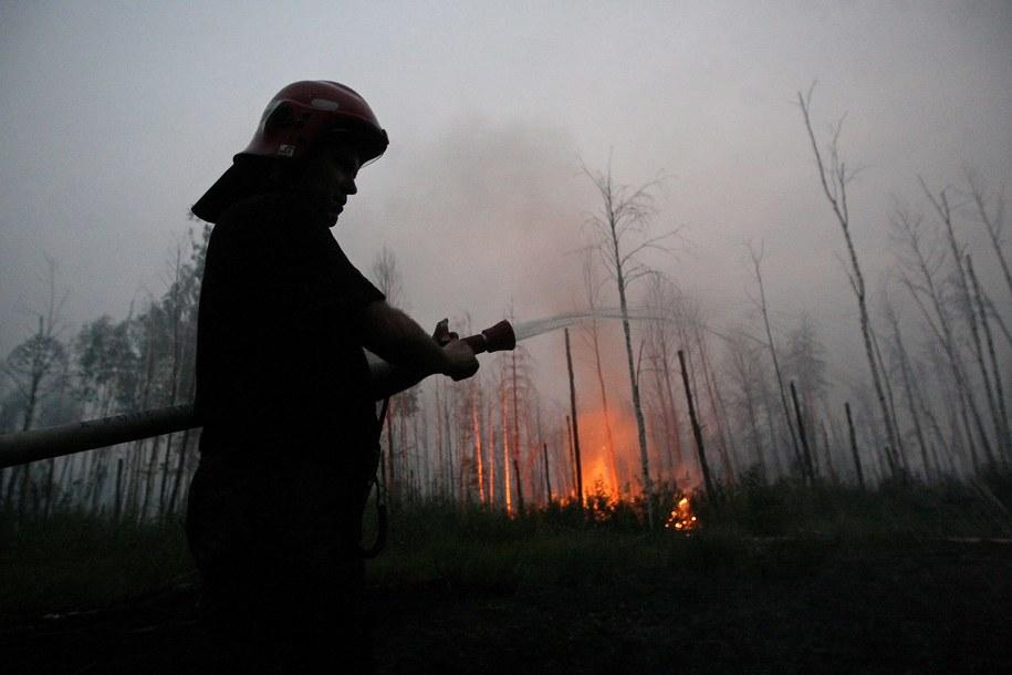 Poprzedni ogromny pożar wybuchł w strefie wokół Czarnobyla pod koniec kwietnia (zdj. archiwalne) / MAXIM SHIPENKOV    /PAP/EPA