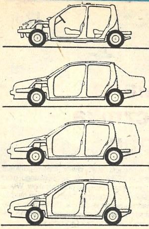 Poprzez zakładanie elementów plastykowych uzyskać można zupełnie różne kształty tyłu tego przyszłościowego samochodu. /Motor