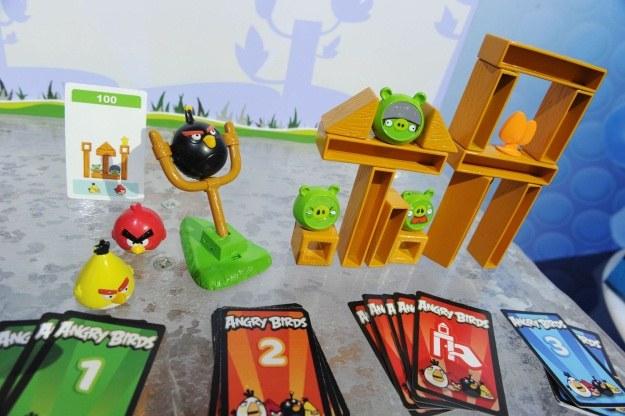 """Popyt na Angry Birds trwa w najlepsze. Na rynku pojawiła się nawet """"planszowa"""" odmiana znanej gry /AFP"""