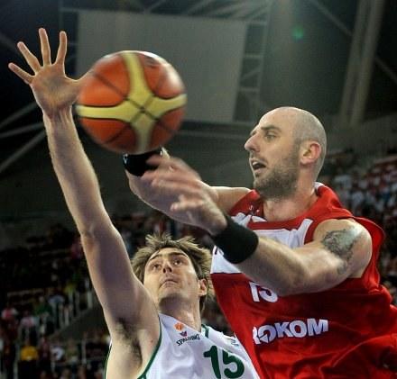 Porażka polskich koszykarzy sprawiła, że trybuny w Spodku świecą pustkami /AFP