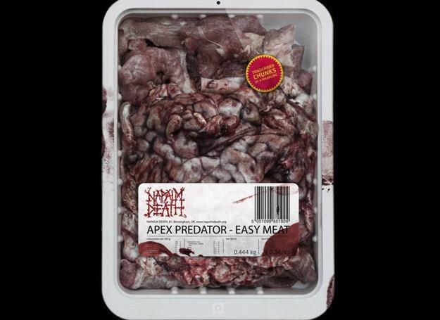 Porcja surowego mięsa od Napalm Death /