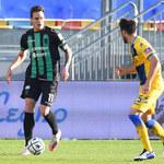 Pordenone Calcio - Ascoli Picchio 1-1 w 25. kolejce Serie B. Asysta Sebastiana Musiolika