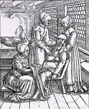 Poród, rycina z 1580 r. /Agnieszka Lisak – blog historyczno-obyczajowy