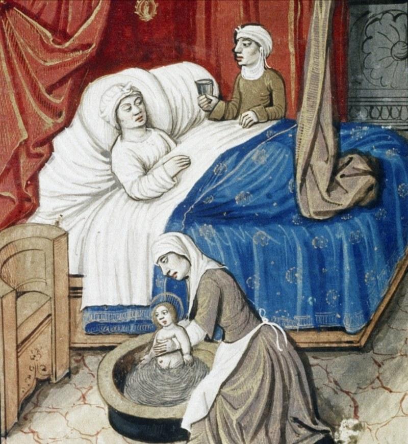 Poród w szerokim towarzystwie? W średniowieczu to był standard (źródło: domena publiczna) /Ciekawostki Historyczne