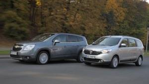 Porównanie: Chevrolet Orlando, Dacia Lodgy