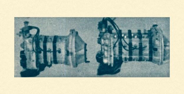 Porównanie nowej i starej jednostki napędowej Mercedes-Wankel. Dodanie jednego plasterka zwiększyło masę silnika z 150 do 180 kg wydłużając go zarazem o 14 cm. /Mercedes
