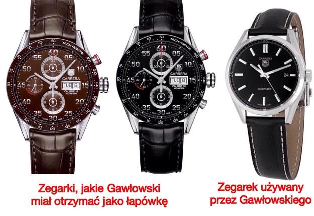 Porównanie trzech zegarków /