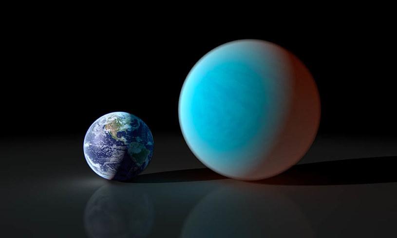 Porównanie wielkości Ziemi i superziemi /materiały prasowe