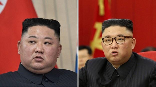 Porównanie zdjęć Kim Dzong Una z 2019 (po lewej) i 2021 (po prawej) /ALEXEI NIKOLSKY  /PAP/EPA