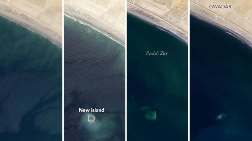 Porównanie zdjęć satelitarnych Zalzala Koh /materiały prasowe