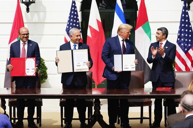 Porozumienie podpisano podczas ceremonii w Białym Domu /JIM LO SCALZO /PAP/EPA