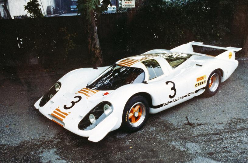 Porsche 917-001 na salonie we Frankfurcie w 1969 roku /