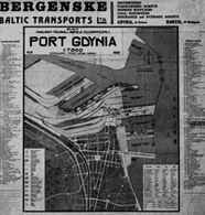 Port Gdynia 1931-32, Plan miasta /Encyklopedia Internautica