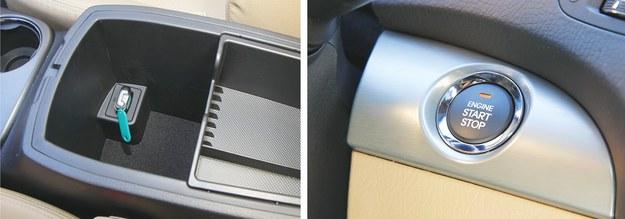 Port na kluczyk: w schowku między fotelami. Silnik uruchamia się przyciskiem start. /Motor