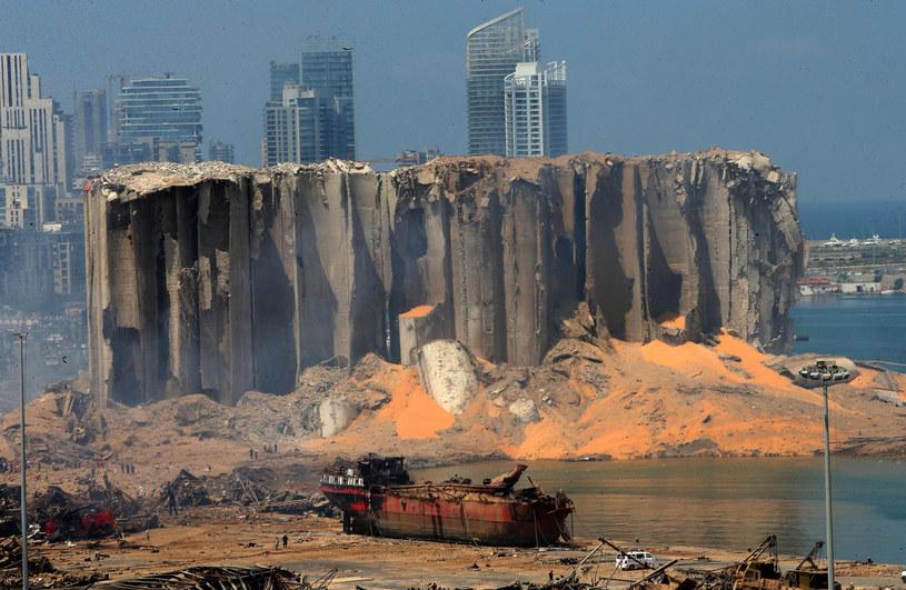 Port w Bejrucie po eksplozji /STR / AFP /East News