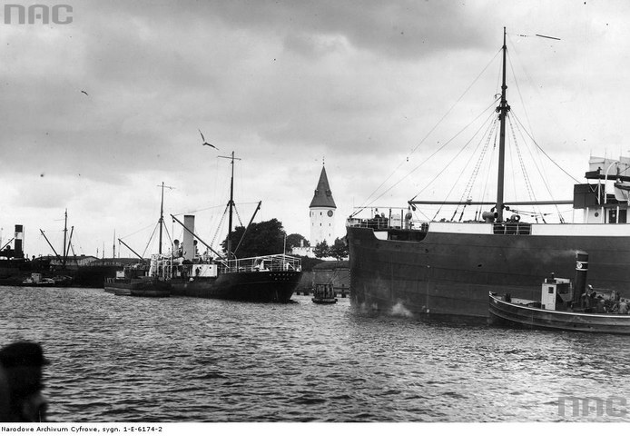 Port w Wolnym Mieście Gdańsku (zdjęcie z lat 20. XX w.) /Z archiwum Narodowego Archiwum Cyfrowego