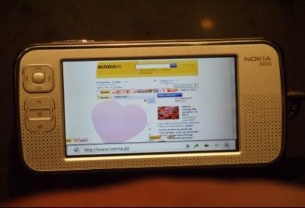 Portal INTERIA.PL na telefonie Nokia N800 /INTERIA.PL