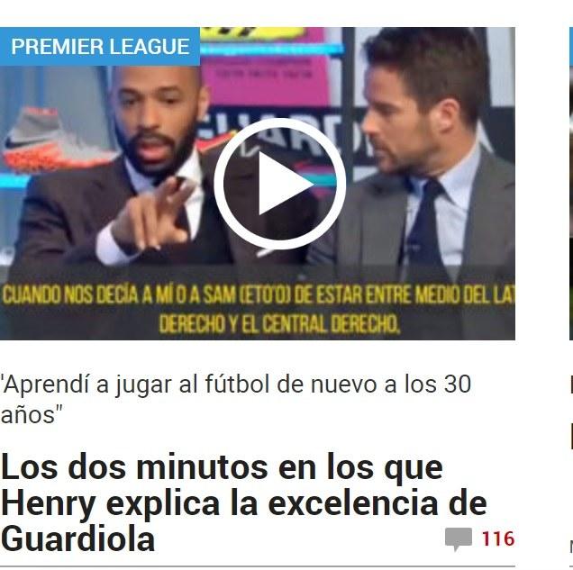 """Portal """"Marca.com"""" przytacza dziś słowa Henry'ego o Guardioli. /"""