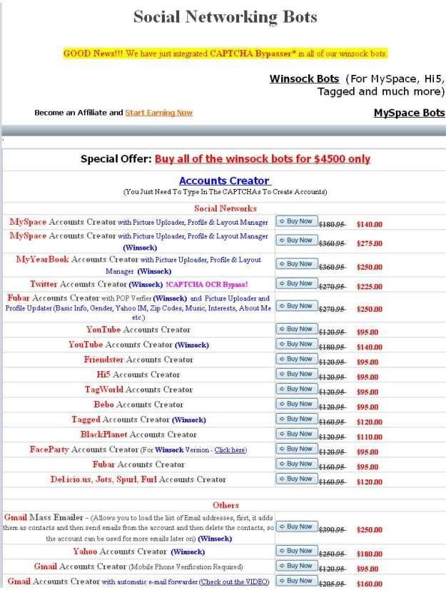 Portal oferujący boty na sprzedaż /materiały prasowe