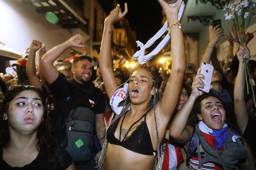 Portorykańczycy świętują dymisję gubernatora /AFP