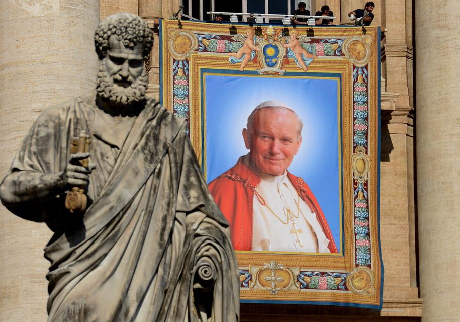 Portret Jana Pawła II w Watykanie /Radek Pietruszka /PAP