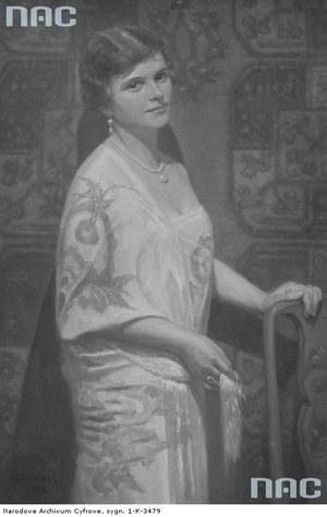 Portret kobiety pędzla Romana Gozdawa-Kaweckiego (1928) /Z archiwum Narodowego Archiwum Cyfrowego