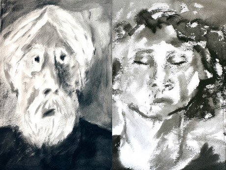 Portret Michaela Haneke oraz autoportret Binoche. /materiały promocyjne