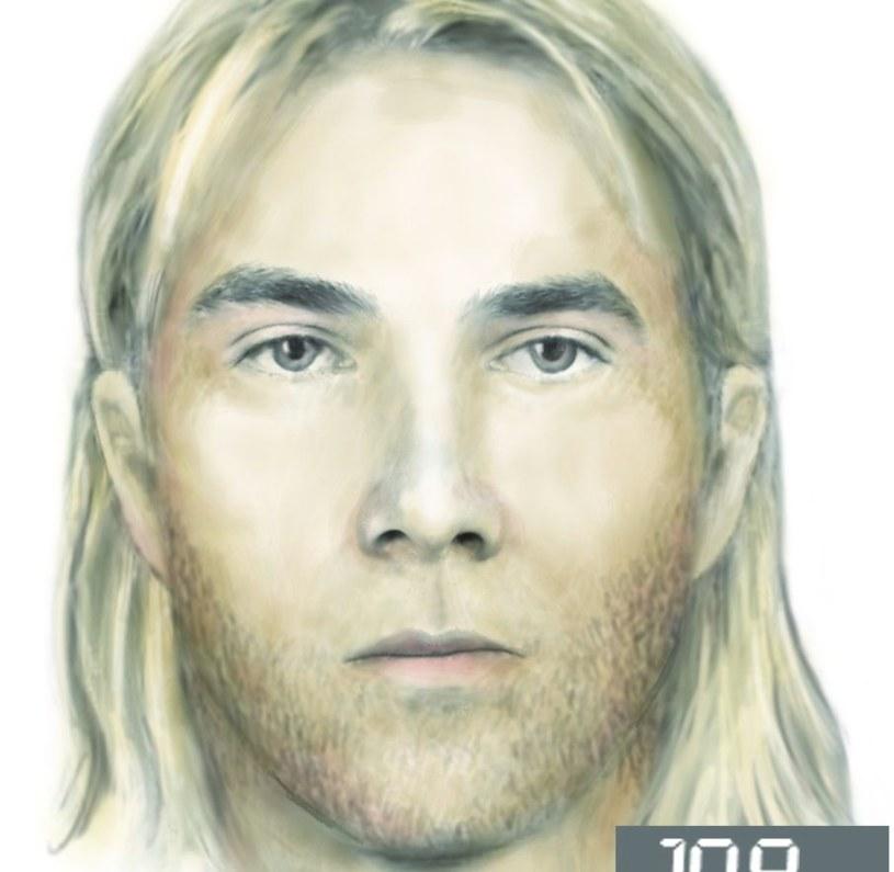 Portret pamięciowy mężczyzny /Policja