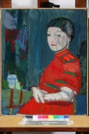 Portret pani w czerwonej sukni, fot. A. Ciesielewski /