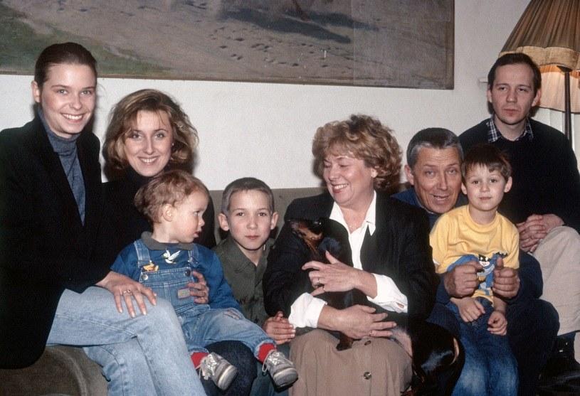 Portret rodziny Młynarskich - 1991 r. /Andrzej Wiernicki /Agencja FORUM