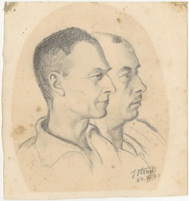 Portret Witolda Pileckiego i Tomasza Serafińskiego /materiały prasowe