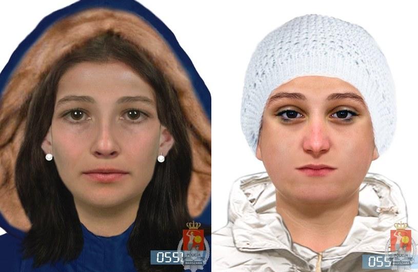 Portrety pamięciowe poszukiwanych kobiet /Policja