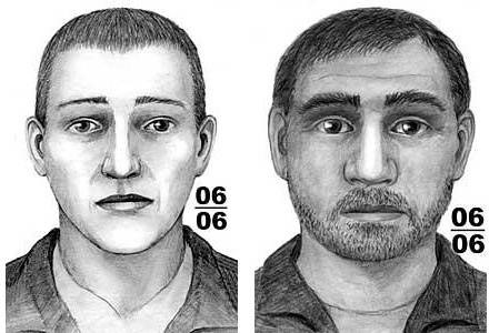Portrety pamięciowe sprawców napadu /Policja