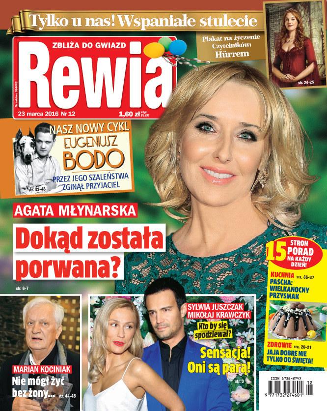 """""""Porwana"""" Agata Młynarska na okładce """"Rewii"""" /Rewia"""