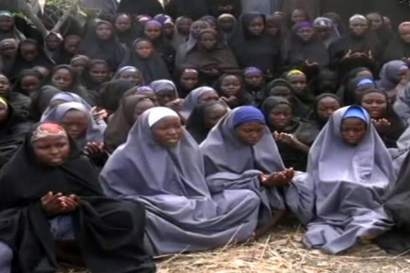 Porwane uczennice na nagraniu video /AFP